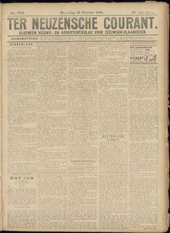 Ter Neuzensche Courant. Algemeen Nieuws- en Advertentieblad voor Zeeuwsch-Vlaanderen / Neuzensche Courant ... (idem) / (Algemeen) nieuws en advertentieblad voor Zeeuwsch-Vlaanderen 1924-10-20