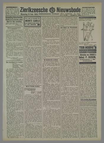 Zierikzeesche Nieuwsbode 1933-02-13