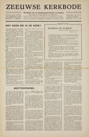 Zeeuwsche kerkbode, weekblad gewijd aan de belangen der gereformeerde kerken/ Zeeuwsch kerkblad 1956-08-24