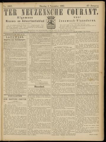 Ter Neuzensche Courant. Algemeen Nieuws- en Advertentieblad voor Zeeuwsch-Vlaanderen / Neuzensche Courant ... (idem) / (Algemeen) nieuws en advertentieblad voor Zeeuwsch-Vlaanderen 1907-11-05