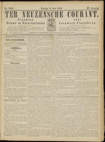 Ter Neuzensche Courant. Algemeen Nieuws- en Advertentieblad voor Zeeuwsch-Vlaanderen / Neuzensche Courant ... (idem) / (Algemeen) nieuws en advertentieblad voor Zeeuwsch-Vlaanderen 1910-06-21