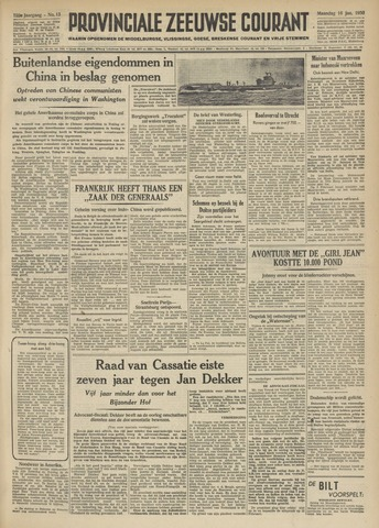 Provinciale Zeeuwse Courant 1950-01-16