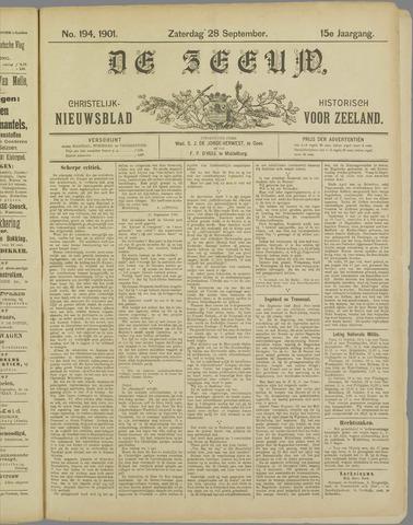 De Zeeuw. Christelijk-historisch nieuwsblad voor Zeeland 1901-09-28