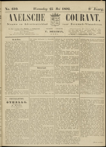 Axelsche Courant 1892-05-25