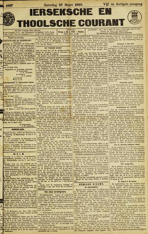 Ierseksche en Thoolsche Courant 1920-03-27