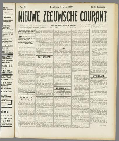 Nieuwe Zeeuwsche Courant 1909-06-24