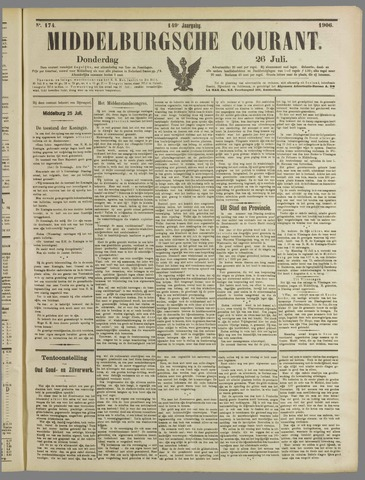 Middelburgsche Courant 1906-07-26