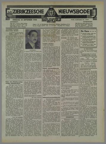 Zierikzeesche Nieuwsbode 1940-09-24