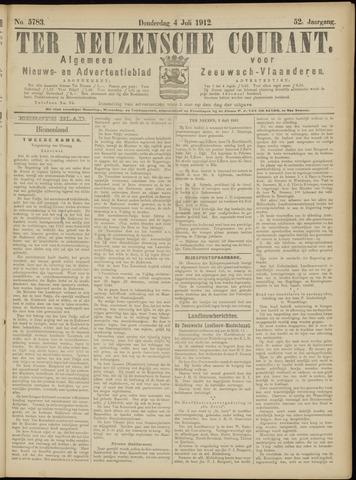 Ter Neuzensche Courant. Algemeen Nieuws- en Advertentieblad voor Zeeuwsch-Vlaanderen / Neuzensche Courant ... (idem) / (Algemeen) nieuws en advertentieblad voor Zeeuwsch-Vlaanderen 1912-07-04