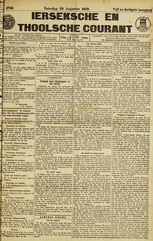 Ierseksche en Thoolsche Courant 1919-08-23