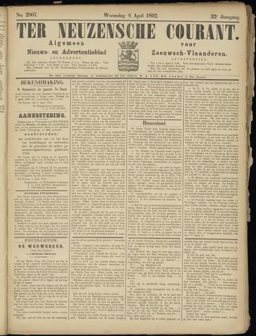 Ter Neuzensche Courant. Algemeen Nieuws- en Advertentieblad voor Zeeuwsch-Vlaanderen / Neuzensche Courant ... (idem) / (Algemeen) nieuws en advertentieblad voor Zeeuwsch-Vlaanderen 1892-04-06