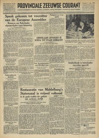 Provinciale Zeeuwse Courant 1950-08-08