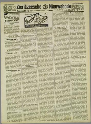 Zierikzeesche Nieuwsbode 1924-08-20