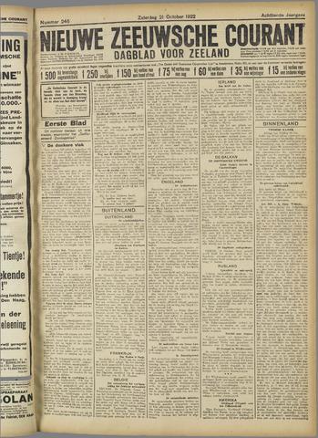 Nieuwe Zeeuwsche Courant 1922-10-21