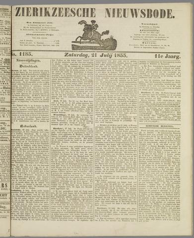 Zierikzeesche Nieuwsbode 1855-07-21