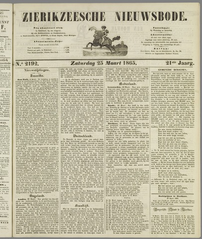 Zierikzeesche Nieuwsbode 1865-03-25