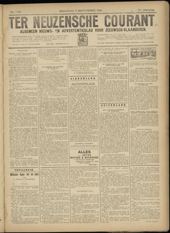 Ter Neuzensche Courant. Algemeen Nieuws- en Advertentieblad voor Zeeuwsch-Vlaanderen / Neuzensche Courant ... (idem) / (Algemeen) nieuws en advertentieblad voor Zeeuwsch-Vlaanderen 1931-09-07