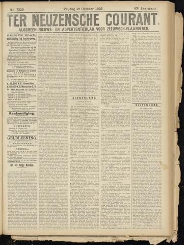 Ter Neuzensche Courant. Algemeen Nieuws- en Advertentieblad voor Zeeuwsch-Vlaanderen / Neuzensche Courant ... (idem) / (Algemeen) nieuws en advertentieblad voor Zeeuwsch-Vlaanderen 1923-10-26