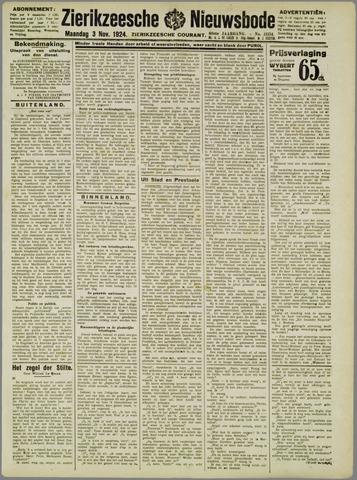 Zierikzeesche Nieuwsbode 1924-11-03