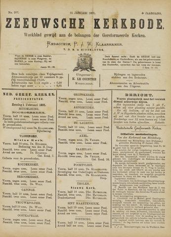 Zeeuwsche kerkbode, weekblad gewijd aan de belangen der gereformeerde kerken/ Zeeuwsch kerkblad 1891-01-31