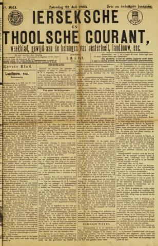 Ierseksche en Thoolsche Courant 1905-07-22