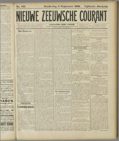 Nieuwe Zeeuwsche Courant 1919-09-04