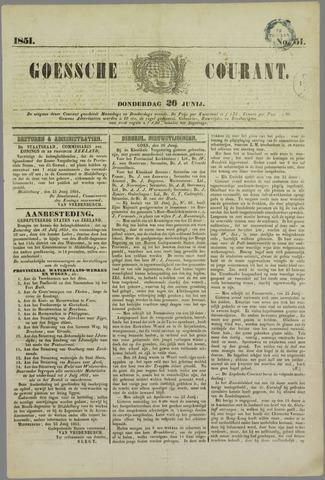 Goessche Courant 1851-06-26