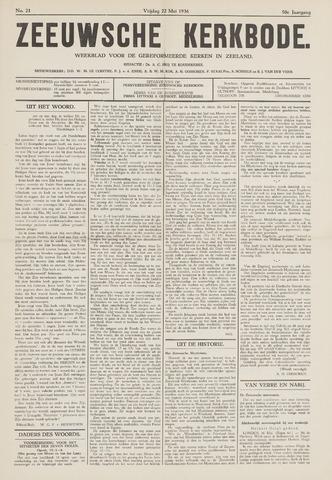 Zeeuwsche kerkbode, weekblad gewijd aan de belangen der gereformeerde kerken/ Zeeuwsch kerkblad 1936-05-22