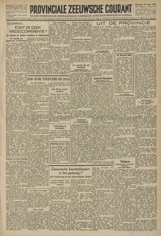 Provinciale Zeeuwse Courant 1946-04-16