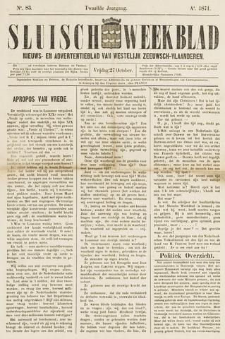 Sluisch Weekblad. Nieuws- en advertentieblad voor Westelijk Zeeuwsch-Vlaanderen 1871-10-27