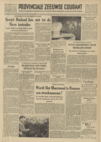 Provinciale Zeeuwse Courant 1954-04-02