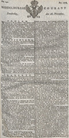 Middelburgsche Courant 1778-11-26