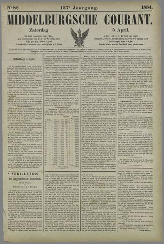 Middelburgsche Courant 1884-04-05