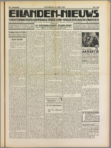 Eilanden-nieuws. Christelijk streekblad op gereformeerde grondslag 1938-05-21