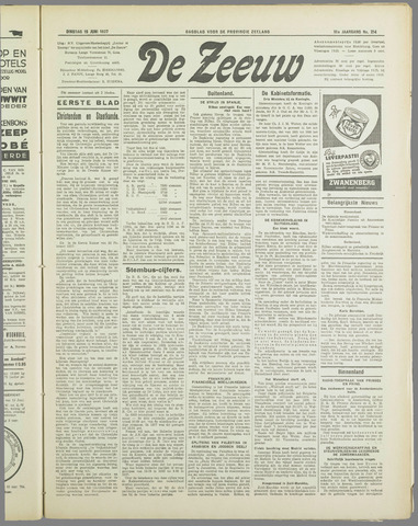 De Zeeuw. Christelijk-historisch nieuwsblad voor Zeeland 1937-06-15