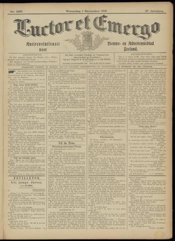 Luctor et Emergo. Antirevolutionair nieuws- en advertentieblad voor Zeeland / Zeeuwsch-Vlaanderen. Orgaan ter verspreiding van de christelijke beginselen in Zeeuwsch-Vlaanderen 1915-12-01