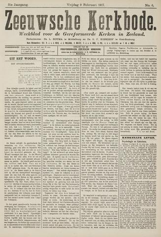 Zeeuwsche kerkbode, weekblad gewijd aan de belangen der gereformeerde kerken/ Zeeuwsch kerkblad 1917-02-09