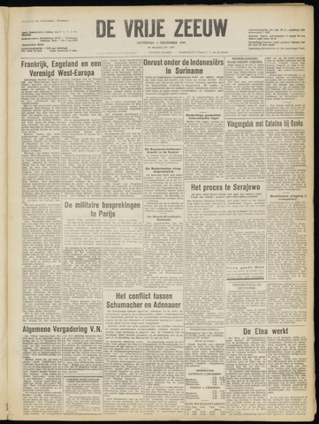de Vrije Zeeuw 1949-12-03