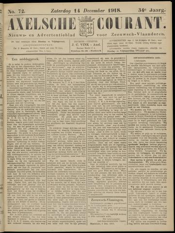 Axelsche Courant 1918-12-14