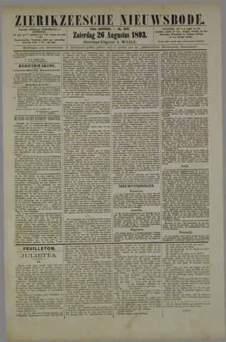 Zierikzeesche Nieuwsbode 1893-08-26