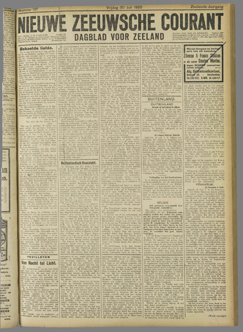 Nieuwe Zeeuwsche Courant 1920-07-30