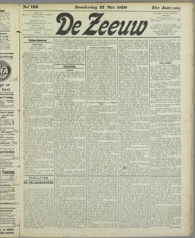 De Zeeuw. Christelijk-historisch nieuwsblad voor Zeeland 1920-05-27