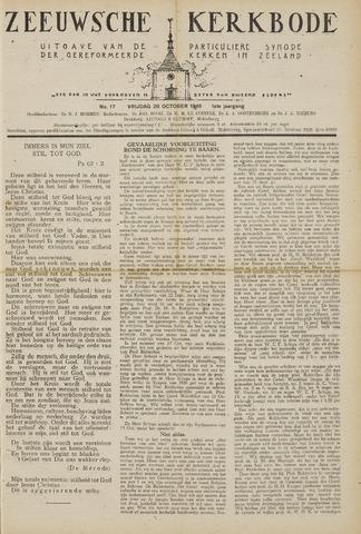 Zeeuwsche kerkbode, weekblad gewijd aan de belangen der gereformeerde kerken/ Zeeuwsch kerkblad 1945-10-26