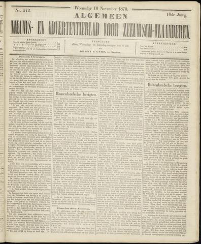 Ter Neuzensche Courant. Algemeen Nieuws- en Advertentieblad voor Zeeuwsch-Vlaanderen / Neuzensche Courant ... (idem) / (Algemeen) nieuws en advertentieblad voor Zeeuwsch-Vlaanderen 1870-11-16