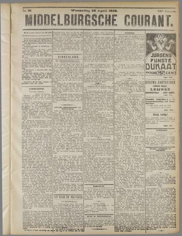 Middelburgsche Courant 1922-04-26