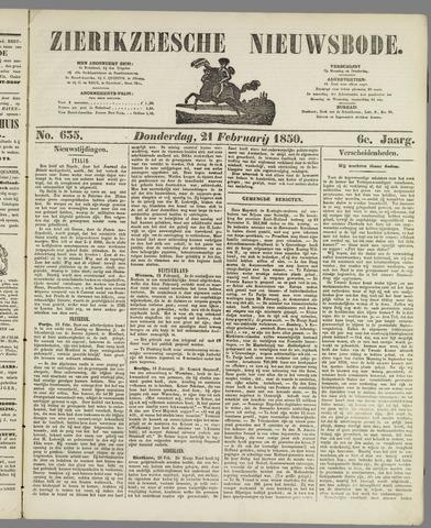Zierikzeesche Nieuwsbode 1850-02-21