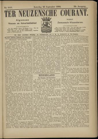 Ter Neuzensche Courant. Algemeen Nieuws- en Advertentieblad voor Zeeuwsch-Vlaanderen / Neuzensche Courant ... (idem) / (Algemeen) nieuws en advertentieblad voor Zeeuwsch-Vlaanderen 1882-09-23