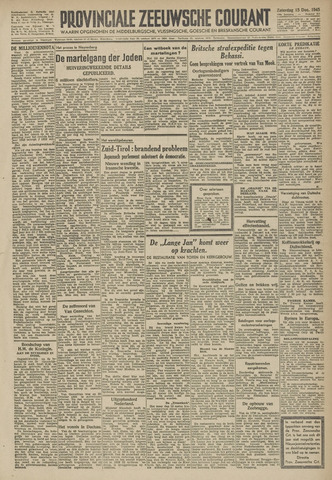 Provinciale Zeeuwse Courant 1945-12-15