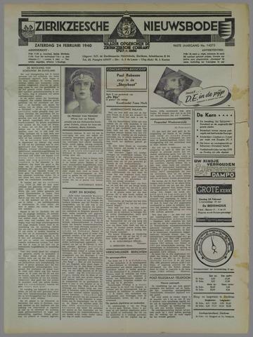 Zierikzeesche Nieuwsbode 1940-02-24