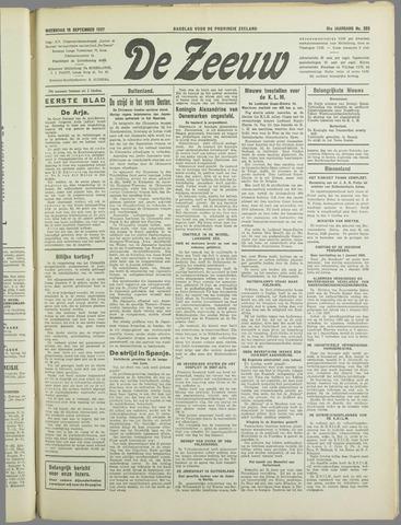 De Zeeuw. Christelijk-historisch nieuwsblad voor Zeeland 1937-09-15